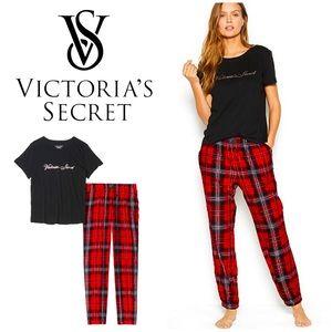 NWT Victoria's Secret cotton & flannel pajamas set